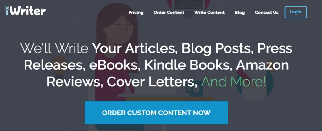 Get your content from iWriter