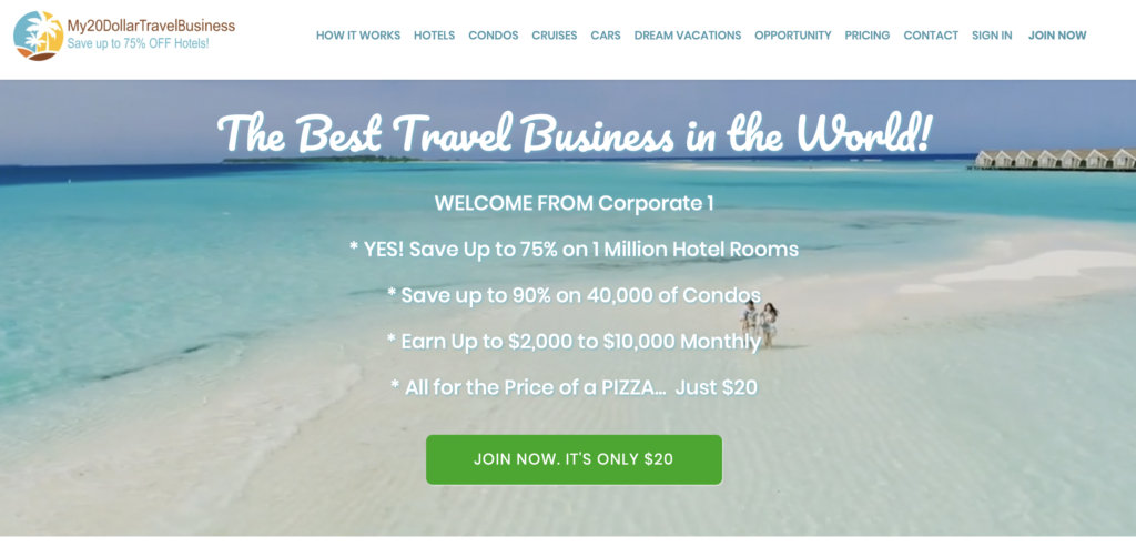 My 20 Dollar Travel Business Review